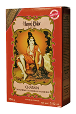 Henné Color henna powder hair dye Chatain - Chestnut